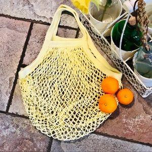 Handbags - ♻️FRENCH MKT SHORT HANDLE ECO COTTON STRING  BAG♻️